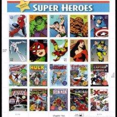 Briefmarken - ESTADOS UNIDOS 2007 Marvel Comics PLIEGO DE 20V MNH SC 4159sp YV BF3940-59 - 73853151