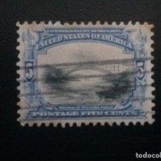 Sellos: ESTADOS UNIDOS , YVERT Nº 141, 1901, SCOTT 297 USA UNITED STATES , PUENTE SOBRE EL NIÁGARA. Lote 86273932