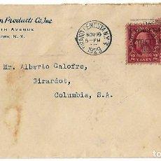 Sellos: ESTADOS UNIDOS. 1929 CARTA DE NUEVA YORK A COLOMBIA. Lote 87019264