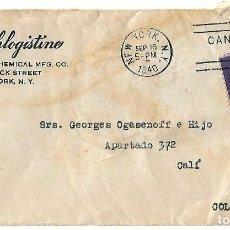 Sellos: ESTADOS UNIDOS 1940. CARTA VOLADA DE NUEVA YORK A CALI. Lote 87412404