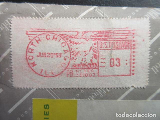 NORTH CHICAGO U. S. POSTAGE - PB METER 1958 (Sellos - Extranjero - América - Estados Unidos)