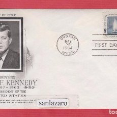 Sellos: SOBRE FIRST DAY OF USSE IN MEMORIAM JOHN F KENNEDY 1917- 1963 BOSTON MAYO 1964 SELLO 5 CENTS. SO12. Lote 101062407