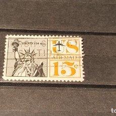 Sellos: USADO. ESTADOS UNIDOS. 1959. ESTATUA DE LA LIBERTAD. 20 NOVIEMBRE 1959. YT PA58. Lote 101269719