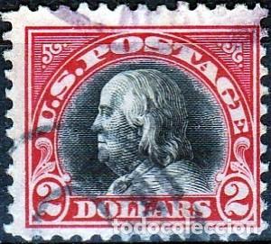 ESTADOS UNIDOS AMERICA .. B. FRANKLIN. 2 $. 1918-19. IVERT .222. D.11. SF.CANCEL. (Sellos - Extranjero - América - Estados Unidos)