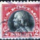 Sellos: ESTADOS UNIDOS AMERICA .. B. FRANKLIN. 2 $. 1918-19. IVERT .222. D.11. SF.CANCEL.. Lote 102670343