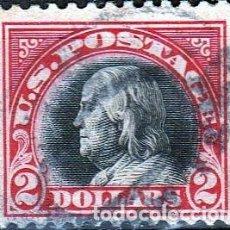 Sellos: ESTADOS UNIDOS AMERICA .. B. FRANKLIN. 2 $. 1918-19. IVERT .222. D.11. SF.CANCEL.. Lote 102670367