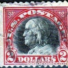 Sellos: ESTADOS UNIDOS AMERICA .. B. FRANKLIN. 2 $. 1918-19. IVERT .222. D.11. SF.CANCEL.. Lote 102670395