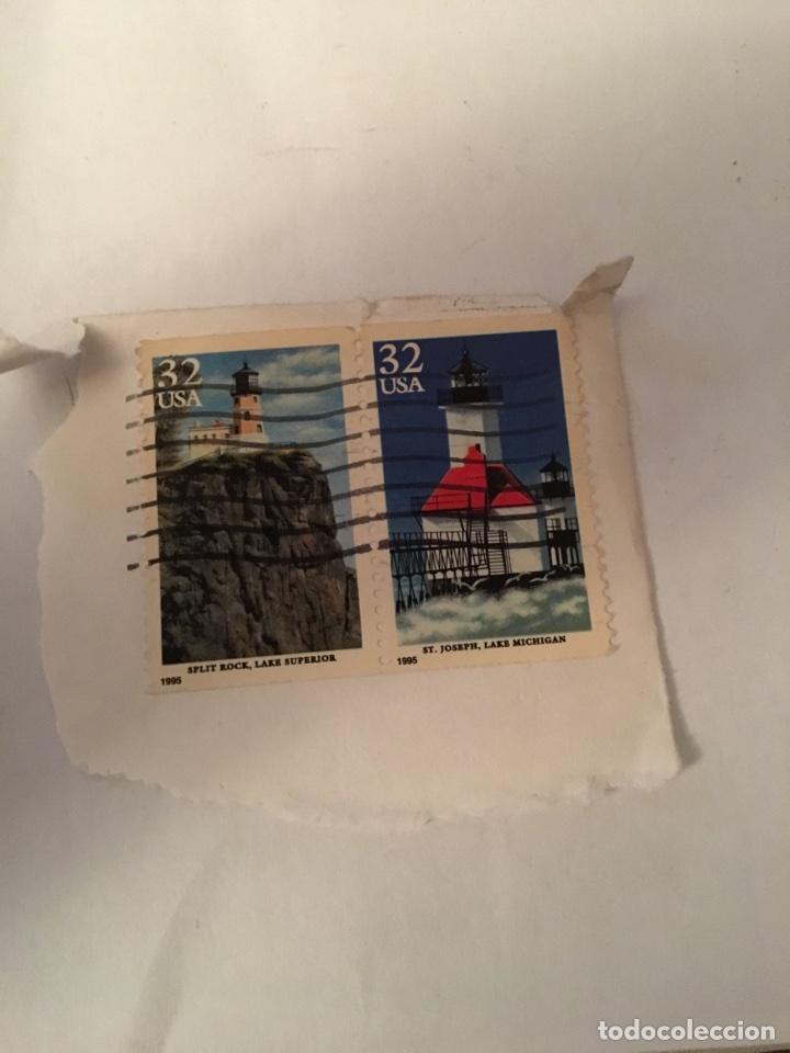 LOTE 2 SELLOS USA ESTADOS UNIDOS 1995 (Sellos - Extranjero - América - Estados Unidos)