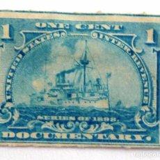 Sellos: SELLOS ESTADOS UNIDOS. SERIES DE 1898. DOCUMENTARY. BARCOS Y VAPORES. CON CHARNELA.. Lote 105726223