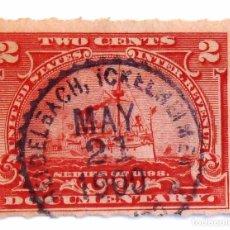 Sellos: SELLOS ESTADOS UNIDOS. SERIES DE 1898. DOCUMENTARY. BARCOS Y VAPORES. USADO.. Lote 105726307