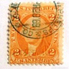 Sellos: SELLOS ESTADOS UNIDOS 1862. INTERIOR. 2 MATASELLOS 1969 CENTAVOS. USADO. FISCAL.. Lote 105748115