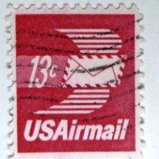 Sellos: SELLOS ESTADOS UNIDOS 1973. USADO CON CHARNELA. AIRMAIL.. Lote 105806059