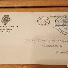 Sellos: SOBRE CIRCULADO DEL VICECONSULADO DE ESPAÑA EN MIAMI 1930. Lote 109093099