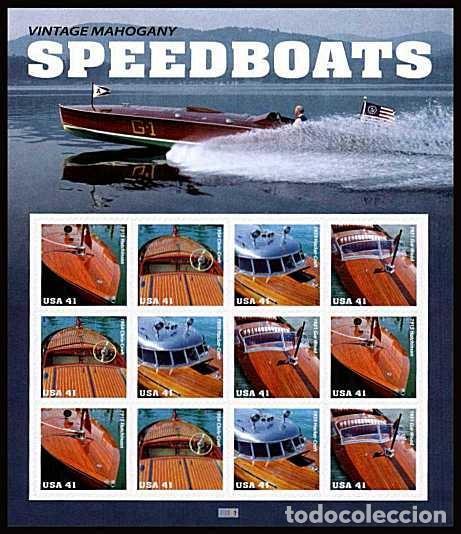 ESTADOS UNIDOS USA 2007 HB CLÁSICAS LANCHAS RÁPIDAS M/S 12V MNH SC 4160-63 YV 3960-63 (Sellos - Extranjero - América - Estados Unidos)