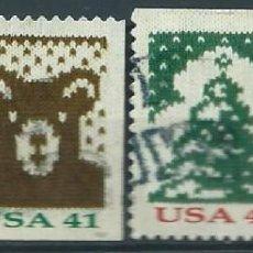 Sellos: ESTADOS UNIDOS USA 2007 NAVIDADES CHRISTMAS KNITS COILS SET DE 4V SC 4211-14 YV 4001A-04A. Lote 112376627