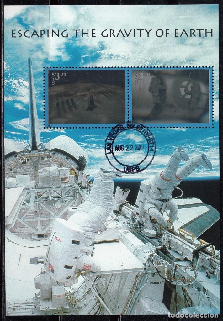 ESTADOS UNIDOS , 2000 YVERT Nº HB 38 , SALIDA DE LA GRAVEDAD DE LA TIERRA (Sellos - Extranjero - América - Estados Unidos)