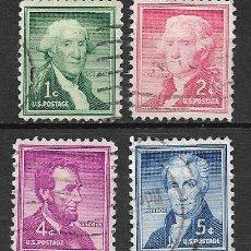 Sellos: PRESIDENTES DE USA. SELLOS AÑO 1954. Lote 143335090