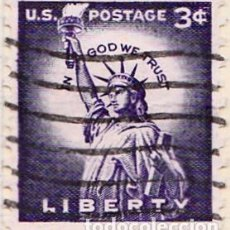 Sellos: 1954 - ESTADOS UNIDOS - U.S.A. - ESTATUA DE LA LIBERTAD - YVERT 581A. Lote 118578227