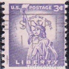 Sellos: 1954 - ESTADOS UNIDOS - U.S.A. - ESTATUA DE LA LIBERTAD - YVERT 581A. Lote 118578431