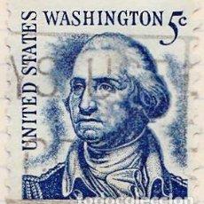 Sellos: 1965 - ESTADOS UNIDOS - U.S.A. - AMERICANOS CELEBRES - GEORGE WASHINGTON - YVERT 796A. Lote 118867019