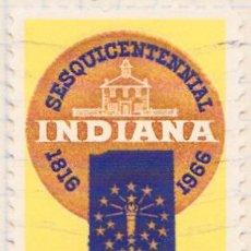 Sellos: 1966 - ESTADOS UNIDOS - U.S.A. - 6º CENTENARIO DE INDIANA - YVERT 801. Lote 118912427