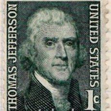 Sellos: 1967 - ESTADOS UNIDOS - U.S.A. - AMERICANOS CELEBRES - THOMAS JEFFERSON - YVERT 816. Lote 118913107