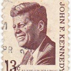 Sellos: 1967 - ESTADOS UNIDOS - U.S.A. - AMERICANOS CELEBRES - JOHN F.KENNEDY - YVERT 820. Lote 118913651