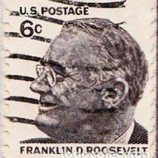 Sellos: 1967 - ESTADOS UNIDOS - U.S.A. - FRANKLIN D.ROOSEVELT - YVERT 840A. Lote 118915191