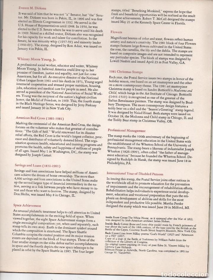 Sellos: U.S.A. MINT SET OF COMMEMORATIVE STAMPS. 1981, VER FOTOS - Foto 5 - 119335907