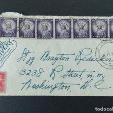 Sellos: PRECIOSO SOBRE CIRCULADO AÑO 1957 DE WASHINGTON (USA) A GREENWICH (INGLATERRA) .... R-9237. Lote 121499639