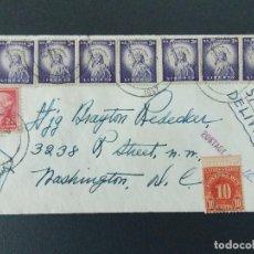 Sellos: PRECIOSO SOBRE CIRCULADO AÑO 1957 DE WASHINGTON (USA) A GREENWICH (INGLATERRA) .... R-9238. Lote 121501455