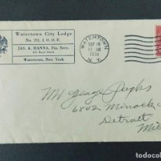 Sellos: BONITO SOBRE CIRCULADO AÑO 1931 DE WATERTOWN A DETROIT (USA) .... R-9239. Lote 121511095