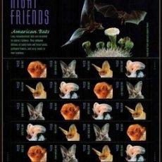 Briefmarken - ESTADOS UNIDOS 2002 MURCIÉLAGOS DE AMERICA AMERICAN BATS PANEL DE 20v. SC 3661-64sp YV BF3378-3381 - 122025327