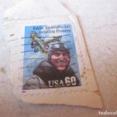Sellos: SELLO USADO 60 CENTAVOS ESTADOS UNIDOS - EDDIE RICKENBACKER AVIATION PIONEER. Lote 125869807