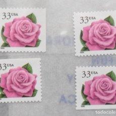 Sellos: 4 SELLOS - USA - ROSA - 1999. Lote 131200992