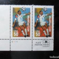 Sellos: 2 SELLOS - WORLD CUP USA 1994. Lote 131208440