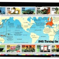 Selos: SELLOS CONMEMORATIVOS 1943: TURNING THE TIDE. USA. Lote 131417502