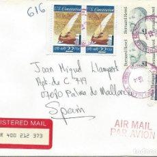 Sellos: 1987. ESTADOS UNIDOS/USA. DESDE BEVERLY HILLS A PALMA DE MALLORCA. INTERESANTE FRANQUEO/NICE POSTAGE. Lote 132033378