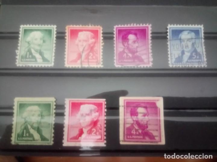 EEUU PRESIDENTES, 1954, IT 587/90 Y 587 A/589 A (Sellos - Extranjero - América - Estados Unidos)