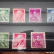 Sellos: EEUU PRESIDENTES, 1954, IT 587/90 Y 587 A/589 A. Lote 132968098