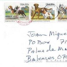 Sellos: 2003. ESTADOS UNIDOS/USA. SOBRE CIRCULADO SERIE CTA. PERROS (AÑO 1984). FAUNA. DOGS. MASCOTAS/PETS.. Lote 133469302