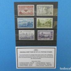 Sellos: LOTE 6 SELLOS CONMEMORATIVOS 3 CENTAVOS. ESTADOS UNIDOS, AÑO 1951. Lote 134760038