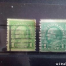 Sellos - ESTADOS UNIDOS 1922/25, - FRANKLIN 1 CoTS, DENT 10 1/4 VERTICAL, VARIANTES DE Color, IT 228 - 135105330