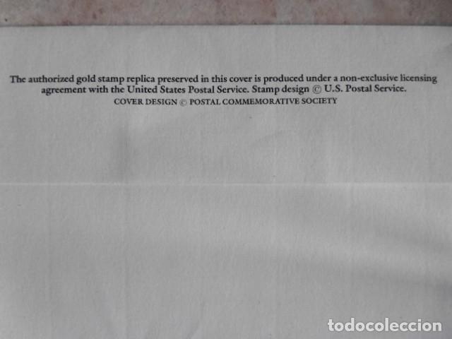 Sellos: REPLICA DE SELLOS DE CORREOS EN ORO DE ESTADOS UNIDOS - Foto 2 - 139202126