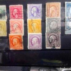Sellos: EEUU 1916, PRESIDENTES, YT 199/203, 206/208, 212/216. Lote 139619182