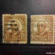 Sellos: EEUU 1930, HARDING DENTADO Y SIN DENTAR EN TRES LADOS, YT 292. Lote 140070342