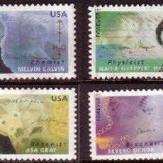 Sellos: ESTADOS UNIDOS 2011 CIENTÍFICOS AMERICANOS SET DE 4V SC 4541-44 YV 4375-78. Lote 141148146