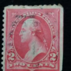 Sellos: U.S. POSTAGE WASHINGTON 2 CENT. STAMP. 1897. USED. Lote 142265946