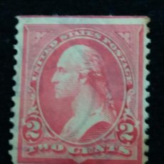 Sellos: 2 SELLOS U.S. POSTAGE GEORGE WASHINGTON 2 CENT. STAMP. 1898. USED. Lote 142318662