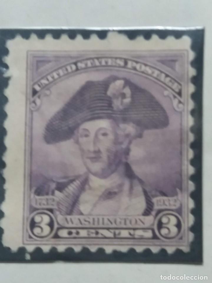 U.S. POSTAGE. WASHINGTON 3 CENT. STAMP. 1932. USED (Sellos - Extranjero - América - Estados Unidos)
